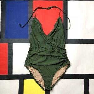 J. Crew olive green swimsuit
